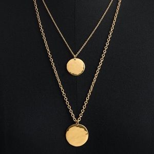 Jcrew Double Layer Gold Coin Necklace